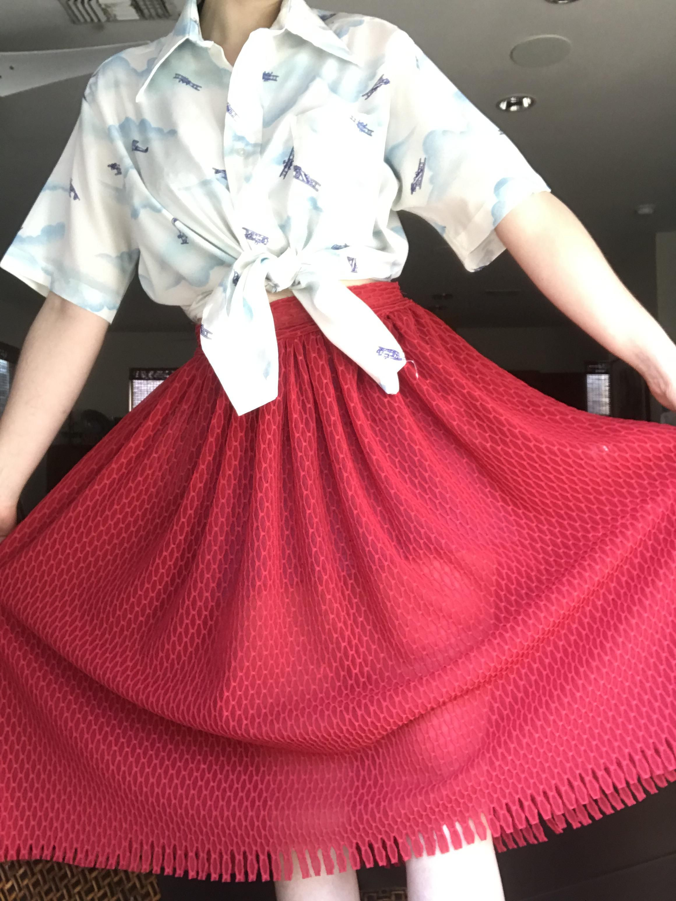 Designed and made this skirt. Im going to make a matching crop top too :)