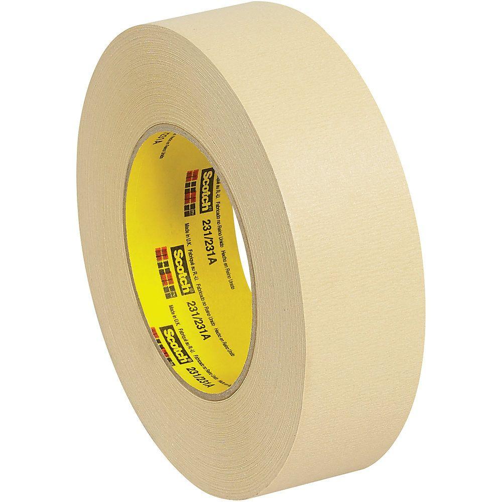 3m 231 Masking Tape 3 Core 1 5 X 180 Tan Case Of 12 Masking Tape Paint Line Break Room