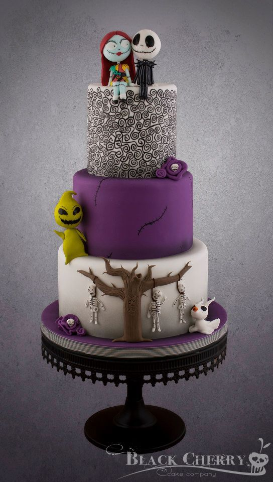 Terrific Nightmare Before Christmas Wedding Cake