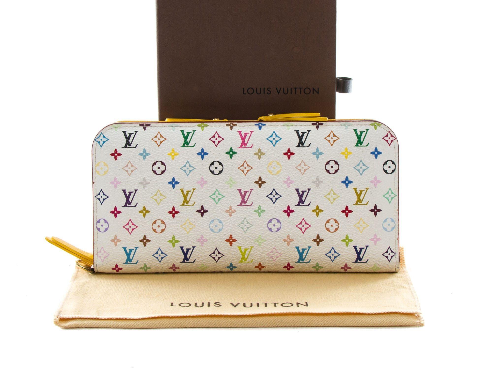 1a9e7c9a3a0bd Authentic Louis Vuitton Multi-color White Insolite long wallet M93750