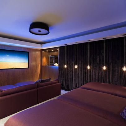 media room ideas lounge beds velvet curtains home design ideas rh pinterest com