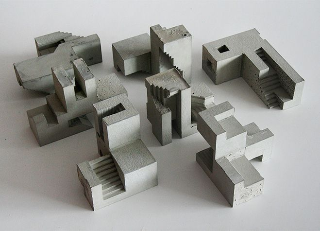 Cubic Geometry – Concrete Modular Sculptures by Artist David Umemoto – OEN