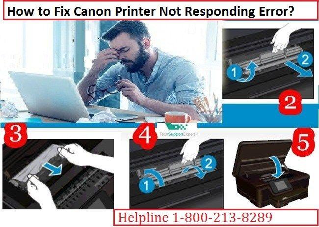 Canon printer says not responding