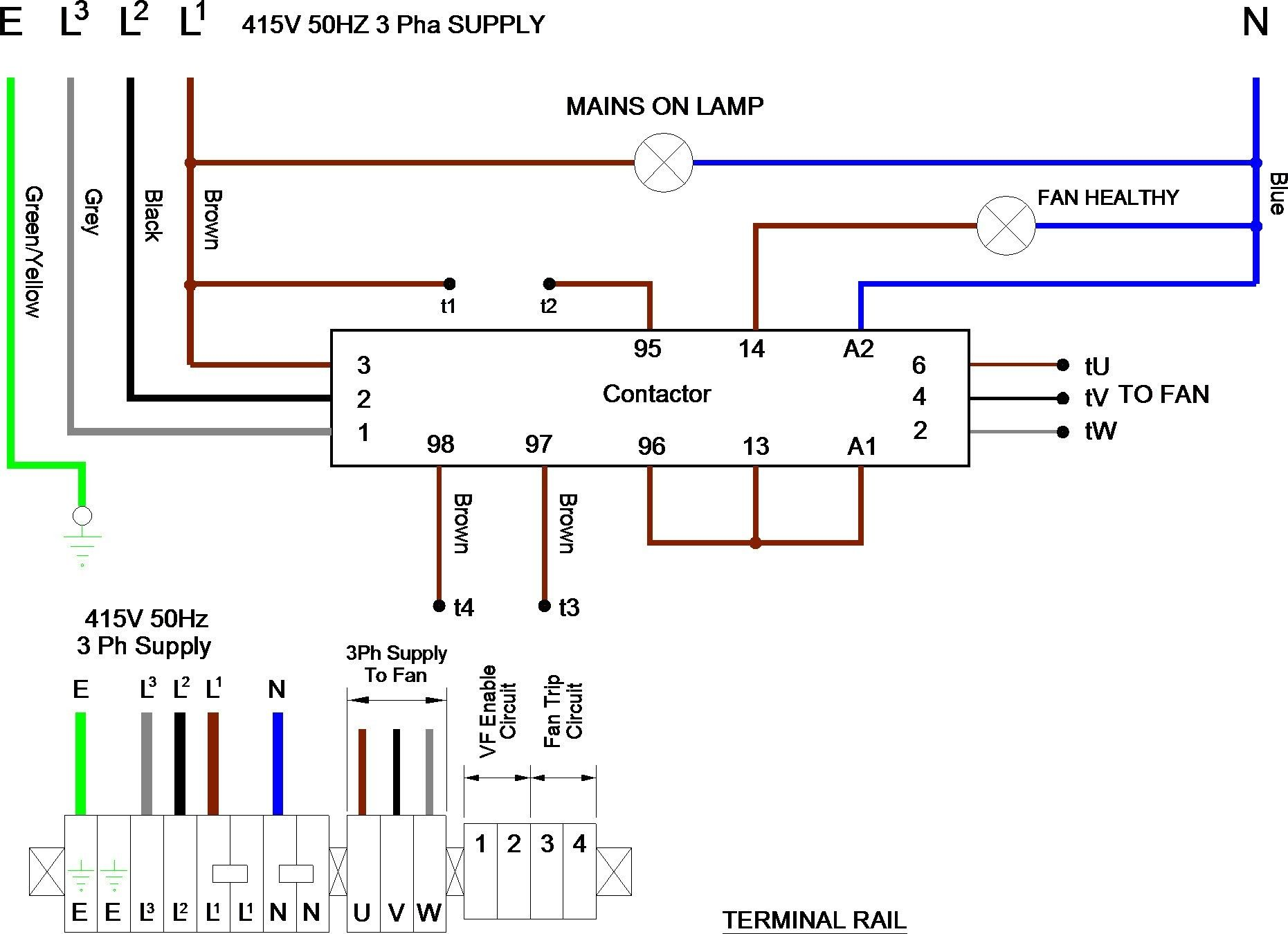 Wiring Diagram Of 3 Phase Generator