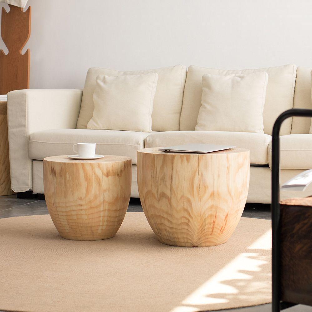 Round Pine Wood Drum 2 Piece Coffee Table Set Living Room In 2021 Living Room Coffee Table Round Coffee Table Living Room Wood Coffee Table Living Room [ 1000 x 1000 Pixel ]