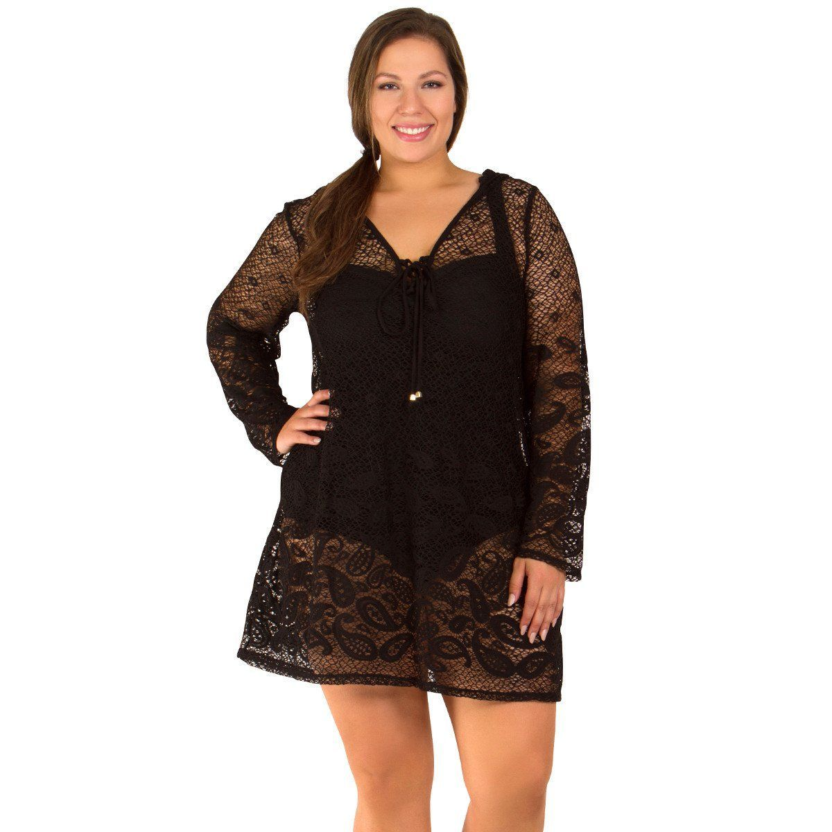 195809cc99b Riviera Paisley Women s Plus Size Cover-Up from Dotti - Available in WHITE  and BLACK