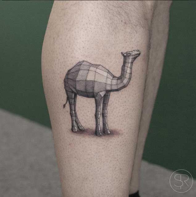 Geometric Camel Tattoo