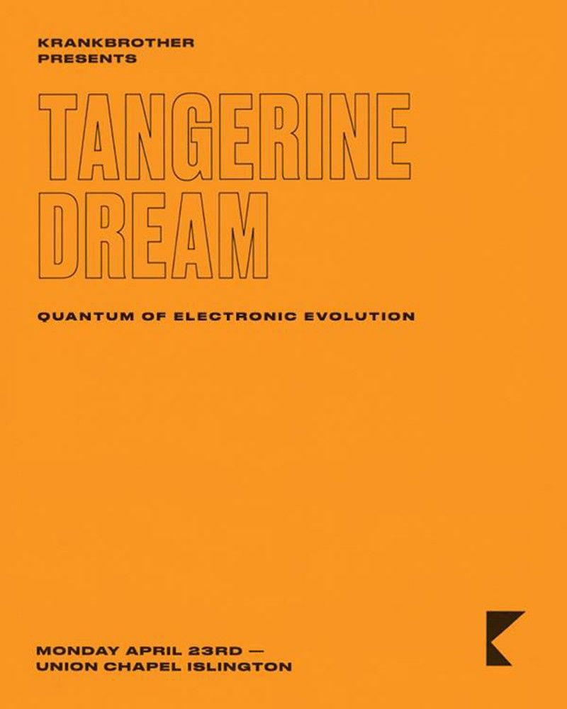 Tangerine Dream to play London's Union Chapel in 2019 | TD | Play