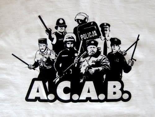 A C A B Gaya Kasual Desain Logo Gambar
