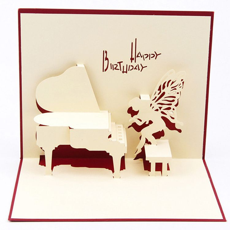 Creative paper greeting cards 3d piano design paper crafts birthday creative paper greeting cards 3d piano design paper crafts birthday gifts blue red cover kt0350 m4hsunfo