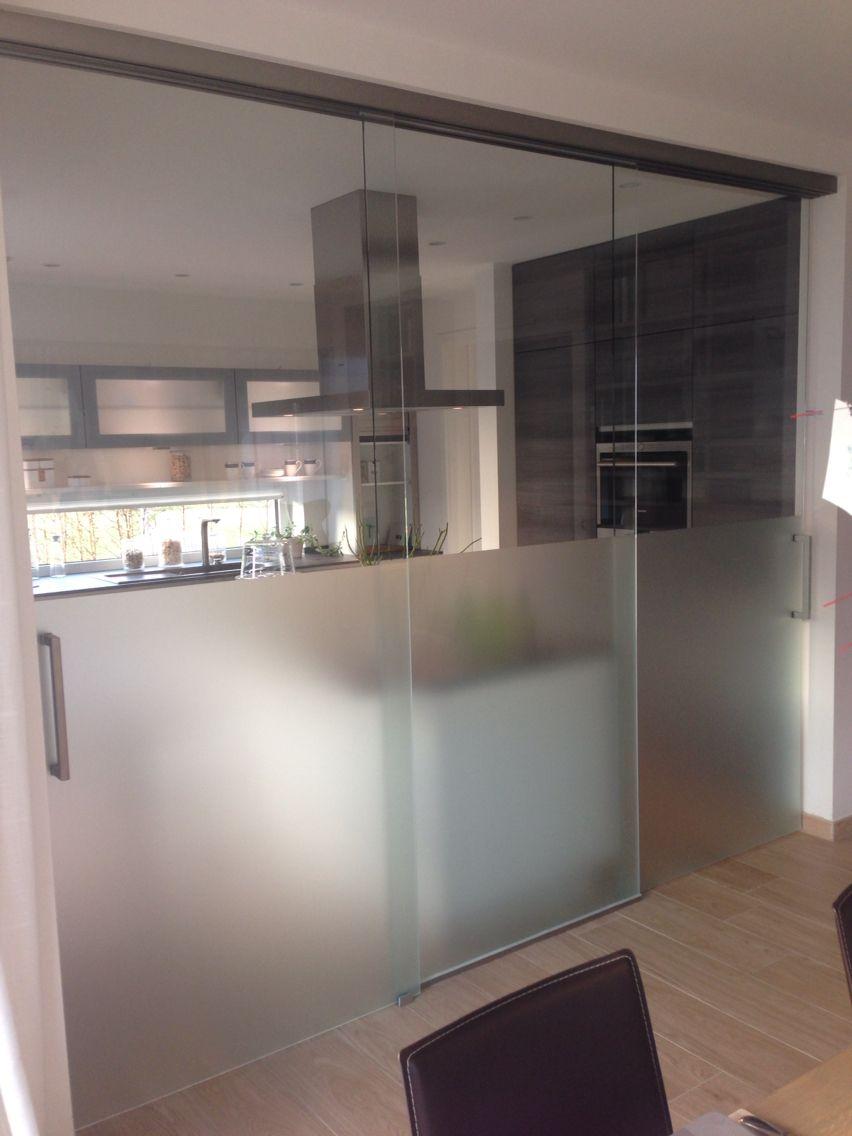 Schiebetüren Küche | Traumhaus | Pinterest | Küche, Glasschiebetüren ...