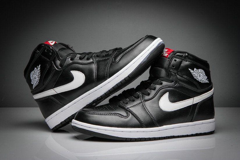 new concept 35697 a753c Air Jordan Retro 1 High Og Black White Black Genuine Shoe