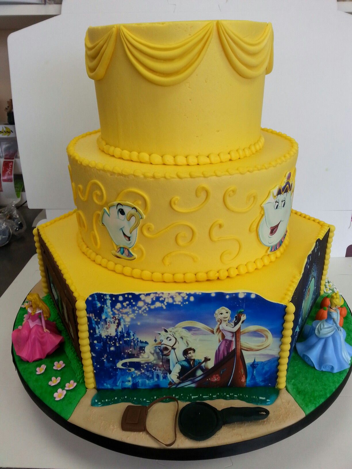 Princess themed birthday cake for Icing Smiles.  #bakingadifference
