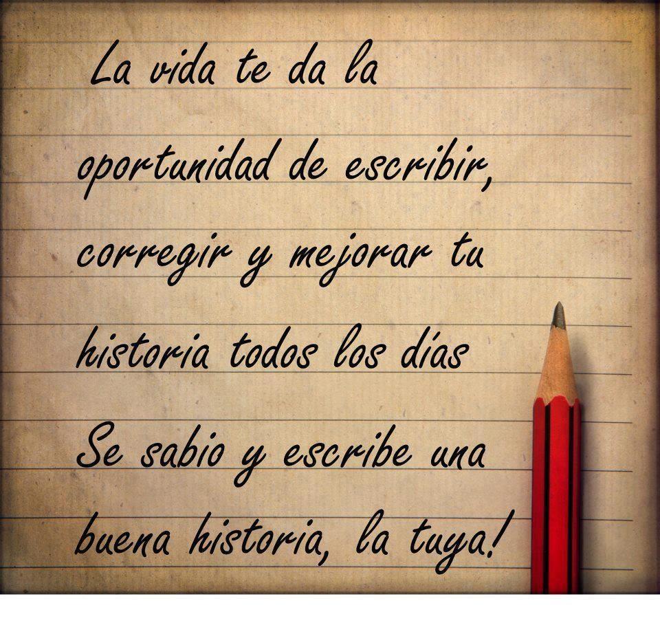 Escribe tu propia historia!