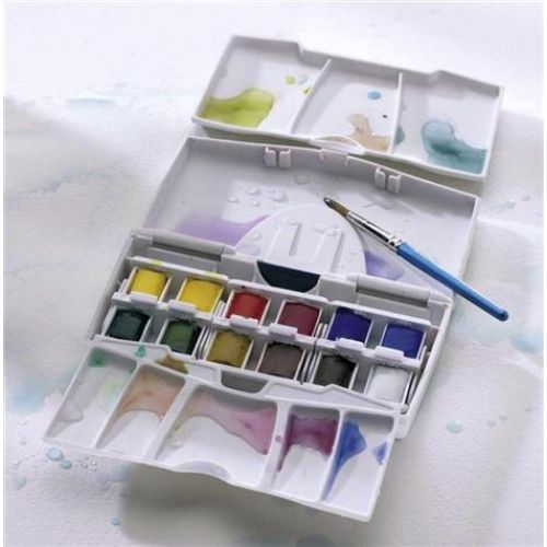 Aquarelle Fine Cotman Coffret Pocket Plus 12 Demi Godets
