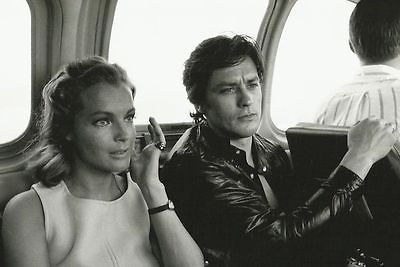 Alain delon romy schneider rare photo 18x24cm tournage la for Alain delon la piscine