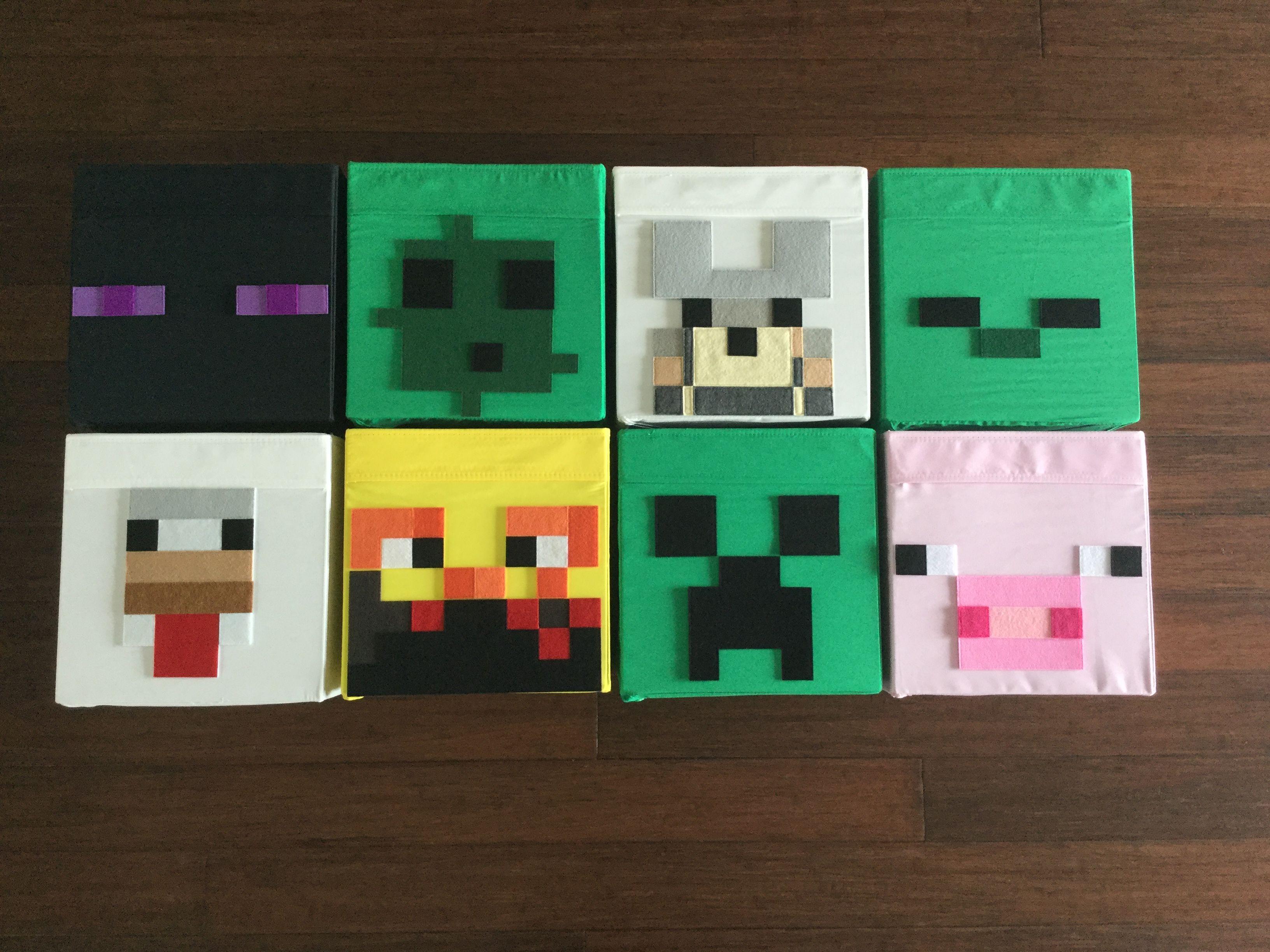 Minecraft Bin Set, 13