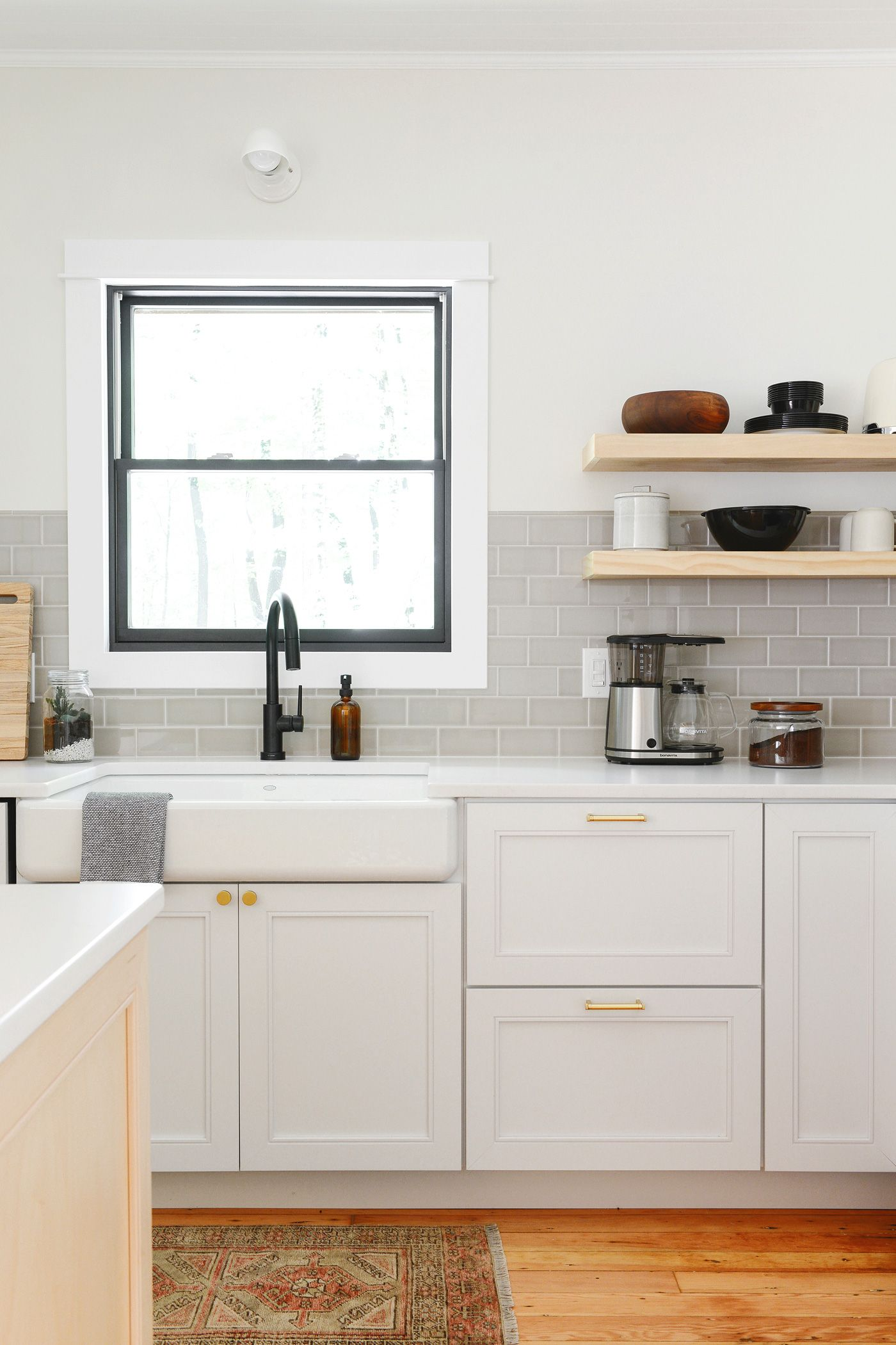The Tree House Kitchen Reveal Floating Shelves Kitchen