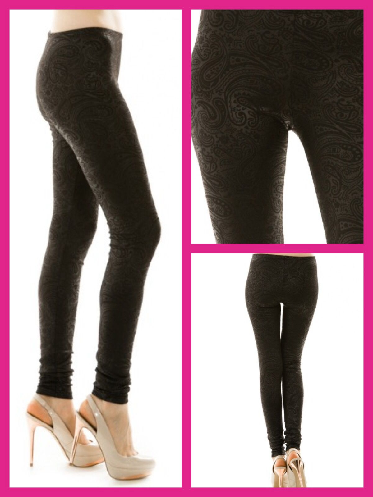 Black Paisley Leggings!  Www.facebook.com/inloveboutiqueonline