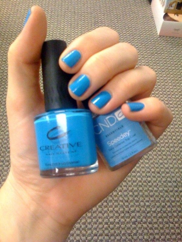 Hot Pop Blue Nail Color An Electric Sky Blue By Creative Nail