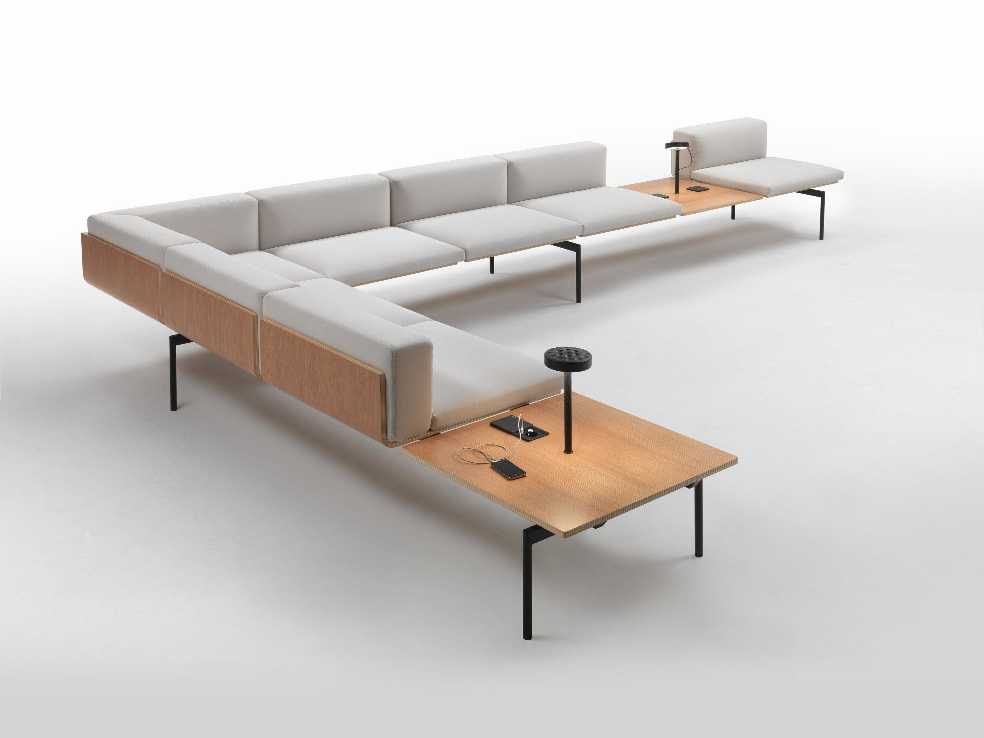 Sectional sofa H SOFA Workshaker Collection by Giulio Marelli