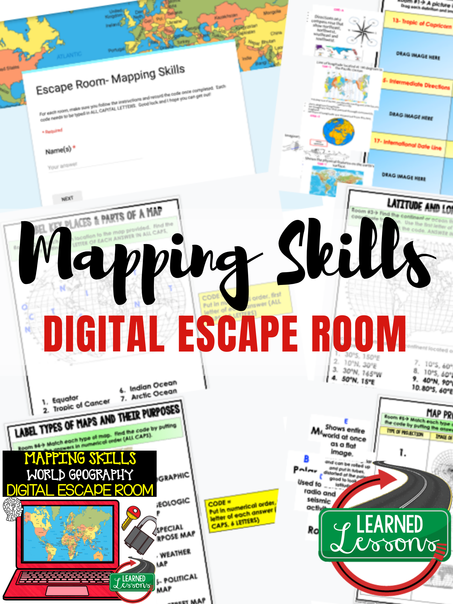 Mapping Skills Digital Escape Room Mapping Skills