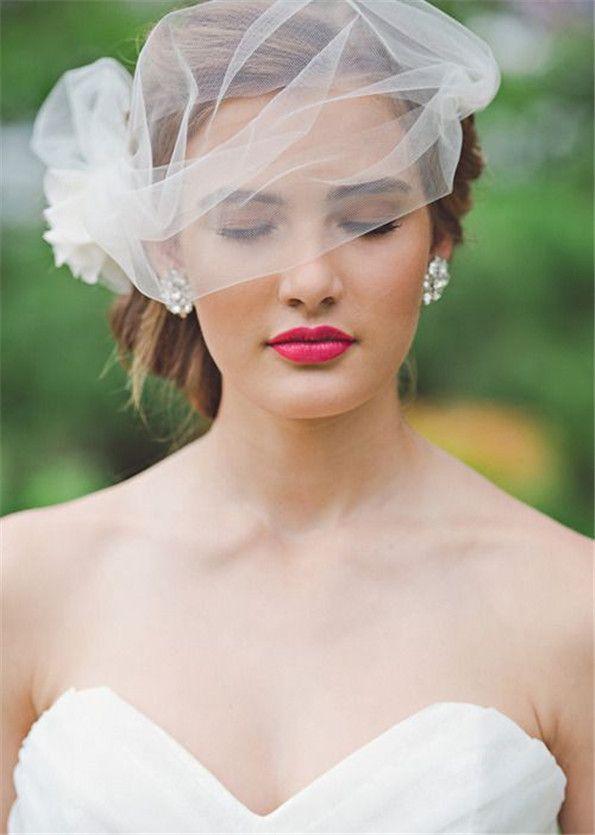 Since I want an elaborate lace dress, I feel I need a simple veil