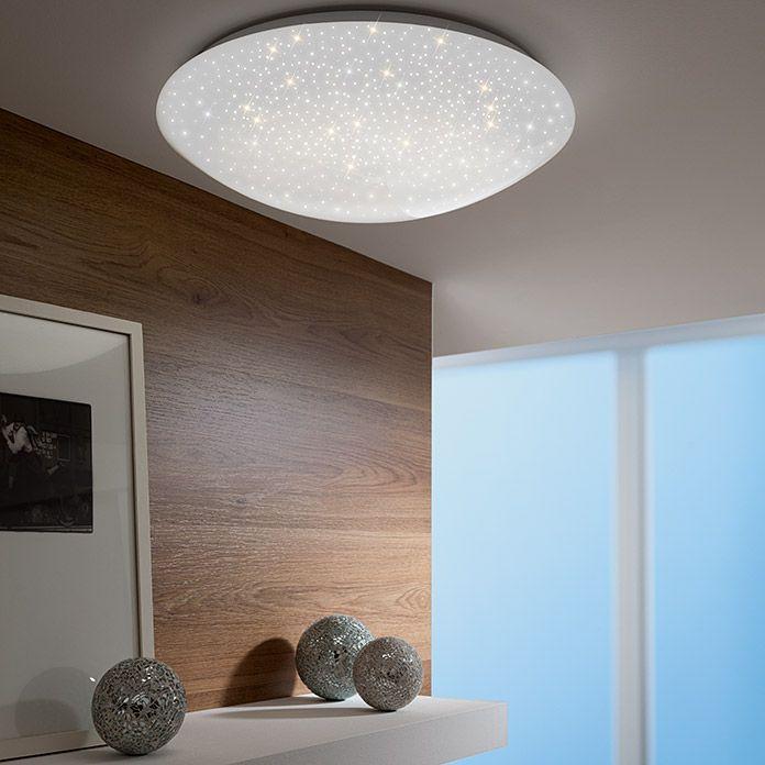 Leuchtendirekt Led Deckenleuchte Skyler Durchmesser Leuchte 35 Cm 12 W Warmweiss Kunststoff Led Deckenleuchte Led Deckenleuchten