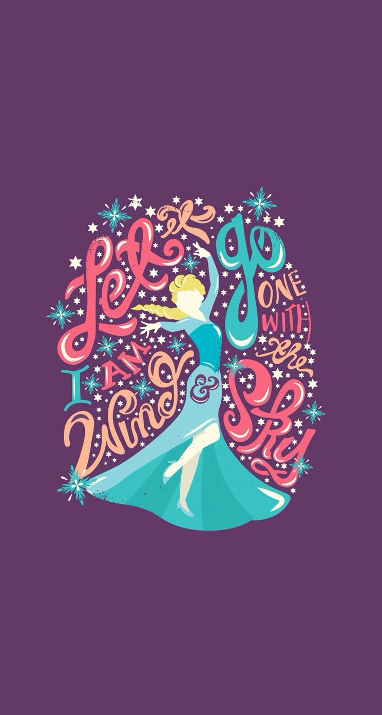 tap image for more disney frozen iphone wallpapers! ley it go - elsa