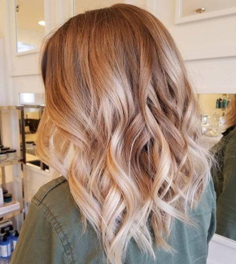 Strawberry Blonde Balayage Short Hair Strawberry