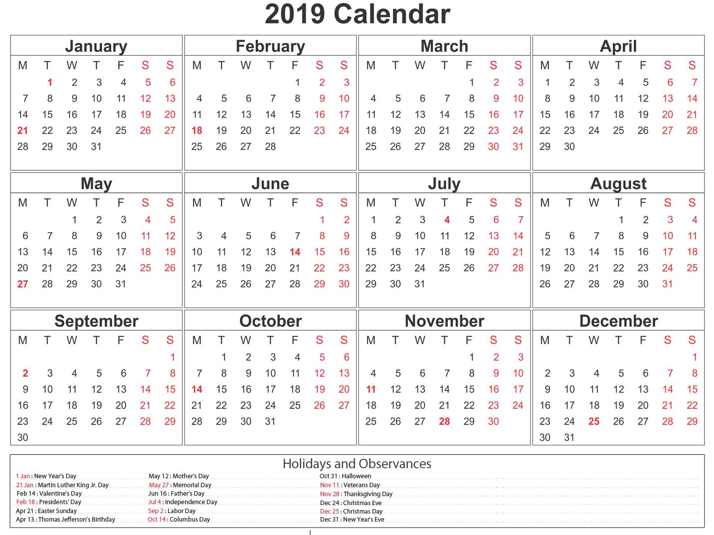 Printable South Africa Calendar Southafrica