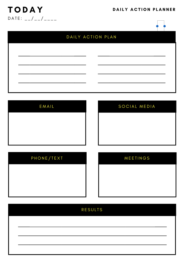 action plan template | Productivity | Pinterest | Template and Blog