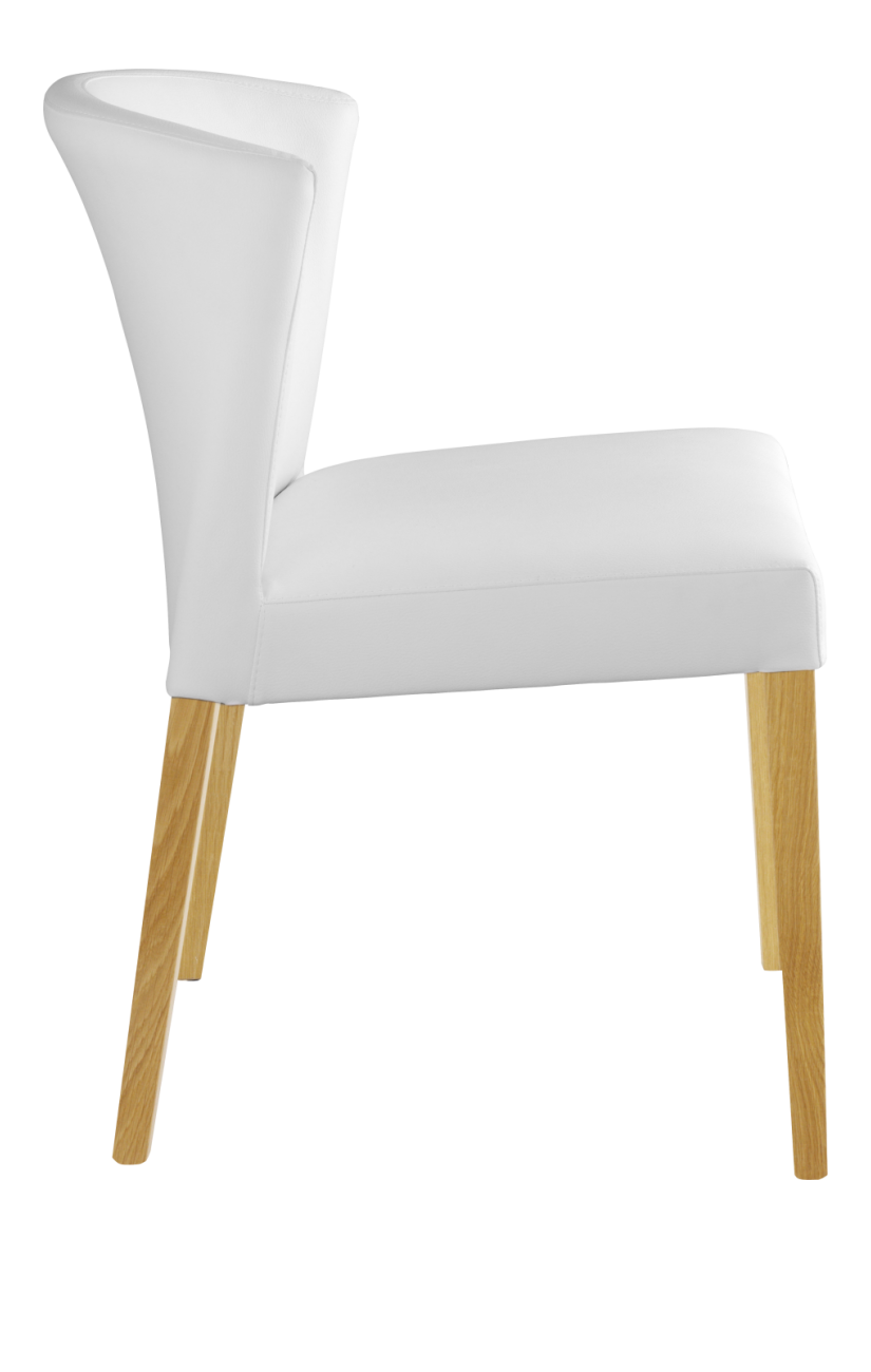 Valentina Chaise Blanc Pieds Chene Chaise De Salle A Manger