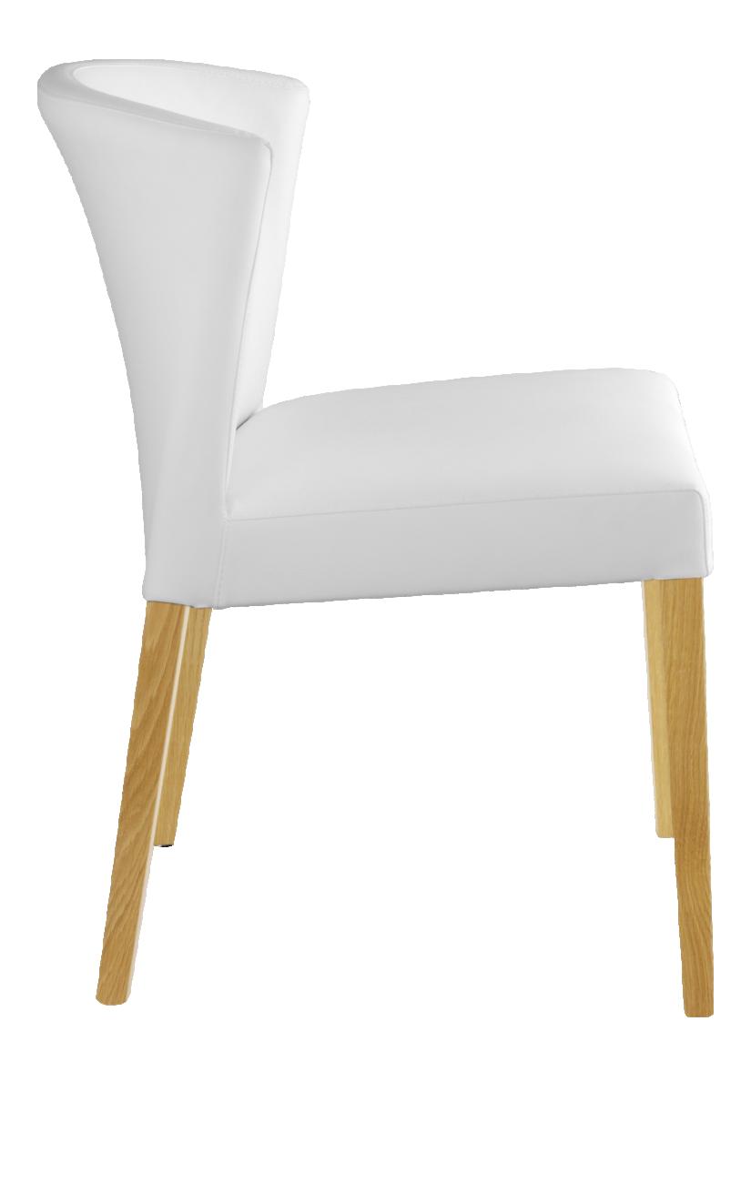 Valentina Chaise En Cuir Blanc Et Pieds En Chene Furniture