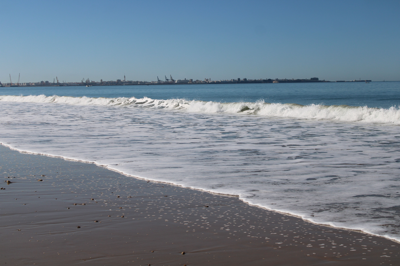 paisajes desde la playa de santa catalina en El Puerto de Santa María