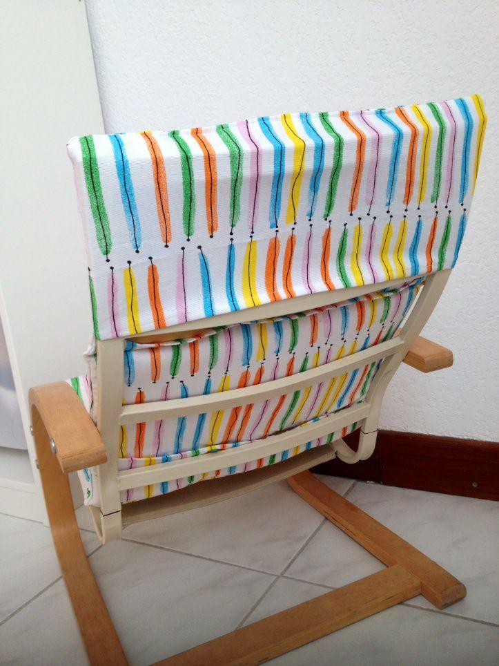 nouvelle housse pour fauteuil poang ikea enfant to stitch pinterest housse pour fauteuil. Black Bedroom Furniture Sets. Home Design Ideas