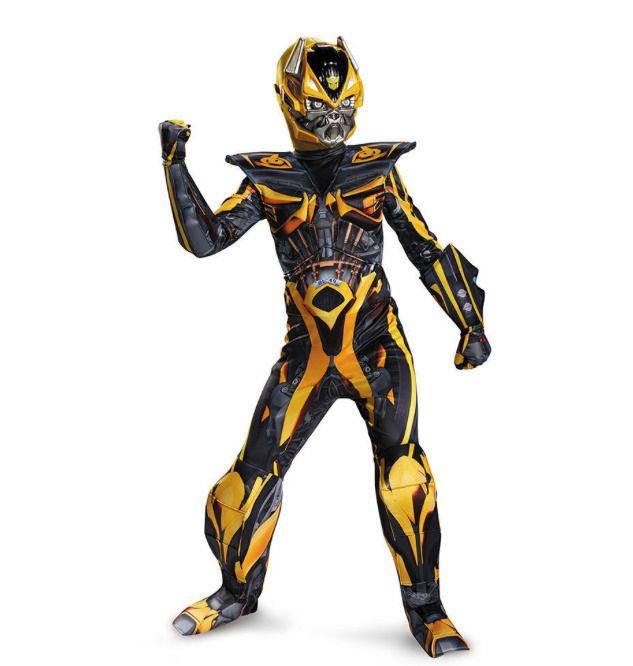 Bumble Bee /& Optimus Prime Boys Fancy Dress Transformers Robot Superhero Costume