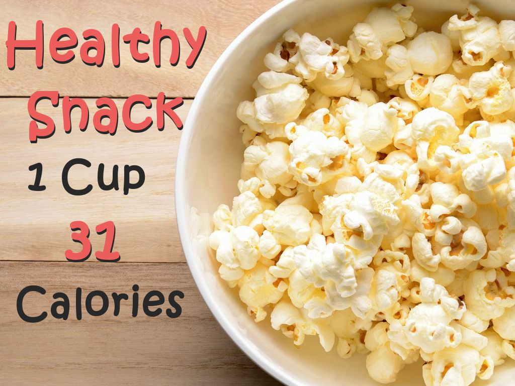 A 1 cup serving of air-popped popcorn has only 31 calories. #healthyfood  #SnackGenius