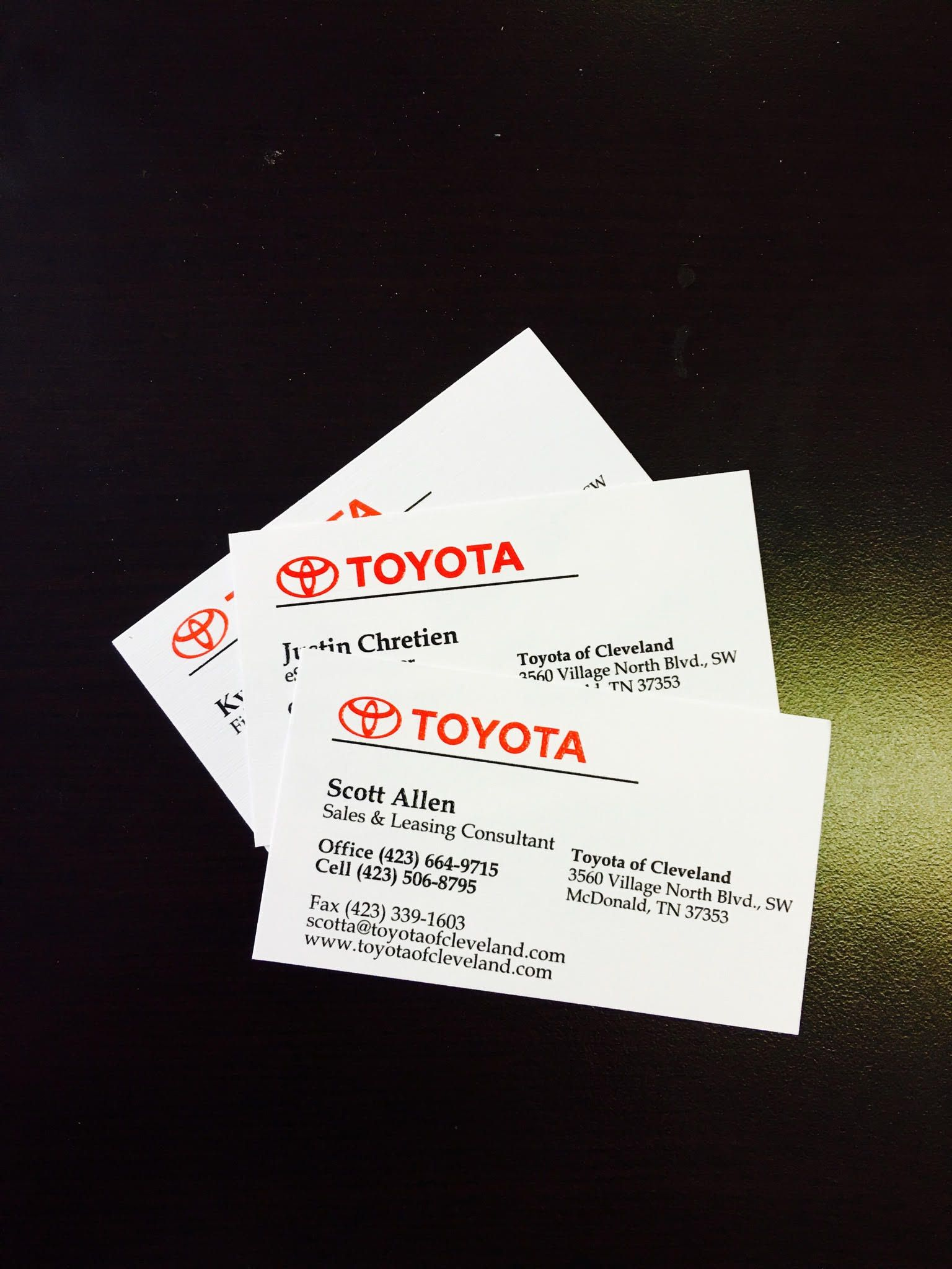 One of our top customers toyota of cleveland business cards one of our top customers toyota of cleveland colourmoves