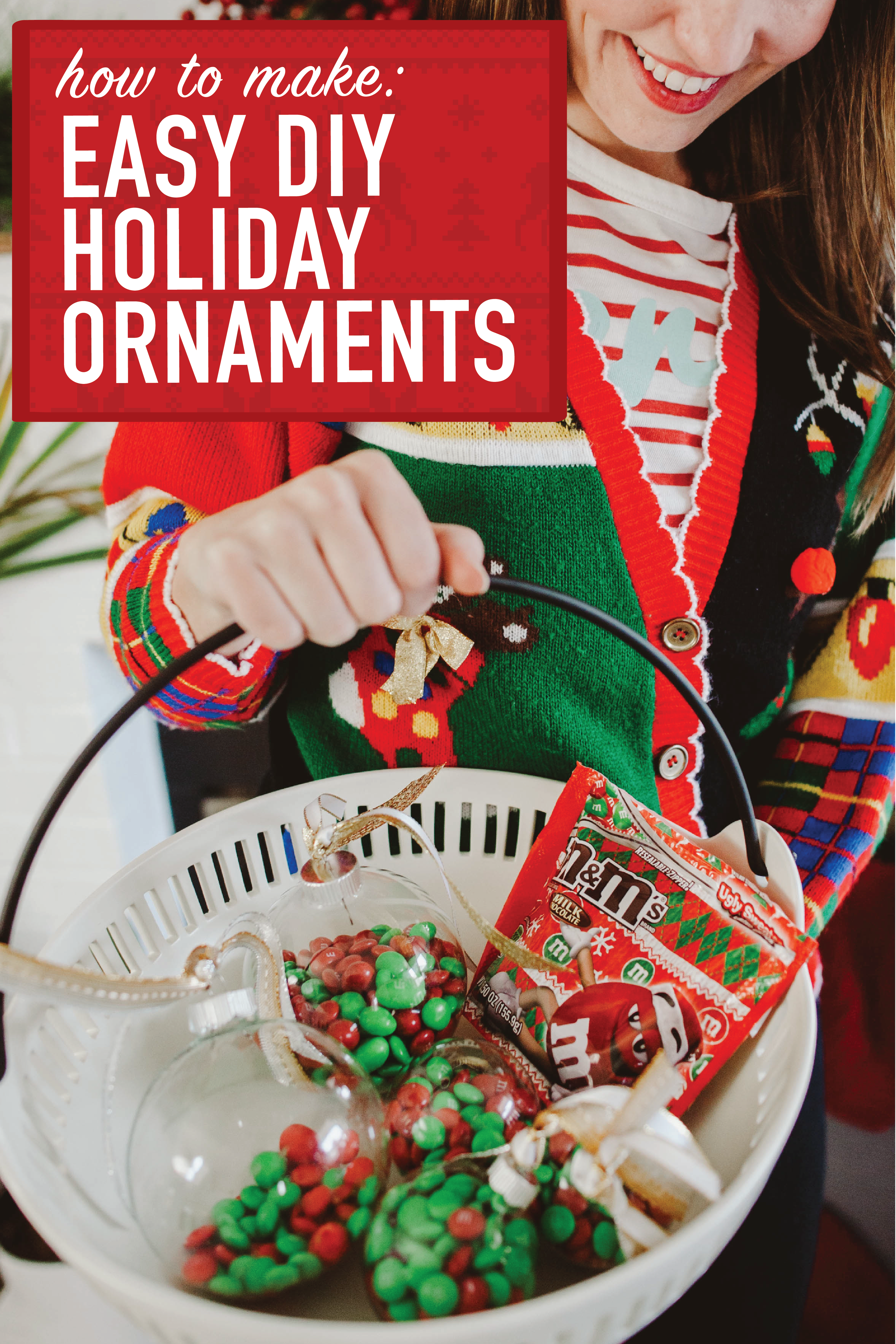 DIY M&Ms Ornaments | Ugly Sweater | Pinterest | King soopers ...