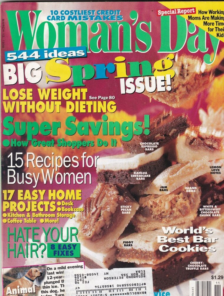 Woman's Day Mag Big Spring Issue March 12, 1996 092719nonr