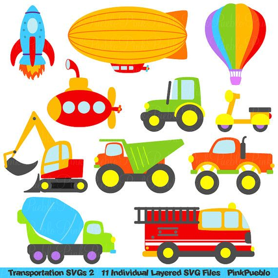Transportation Svgs Trucks Cars And Trains Cutting Templates