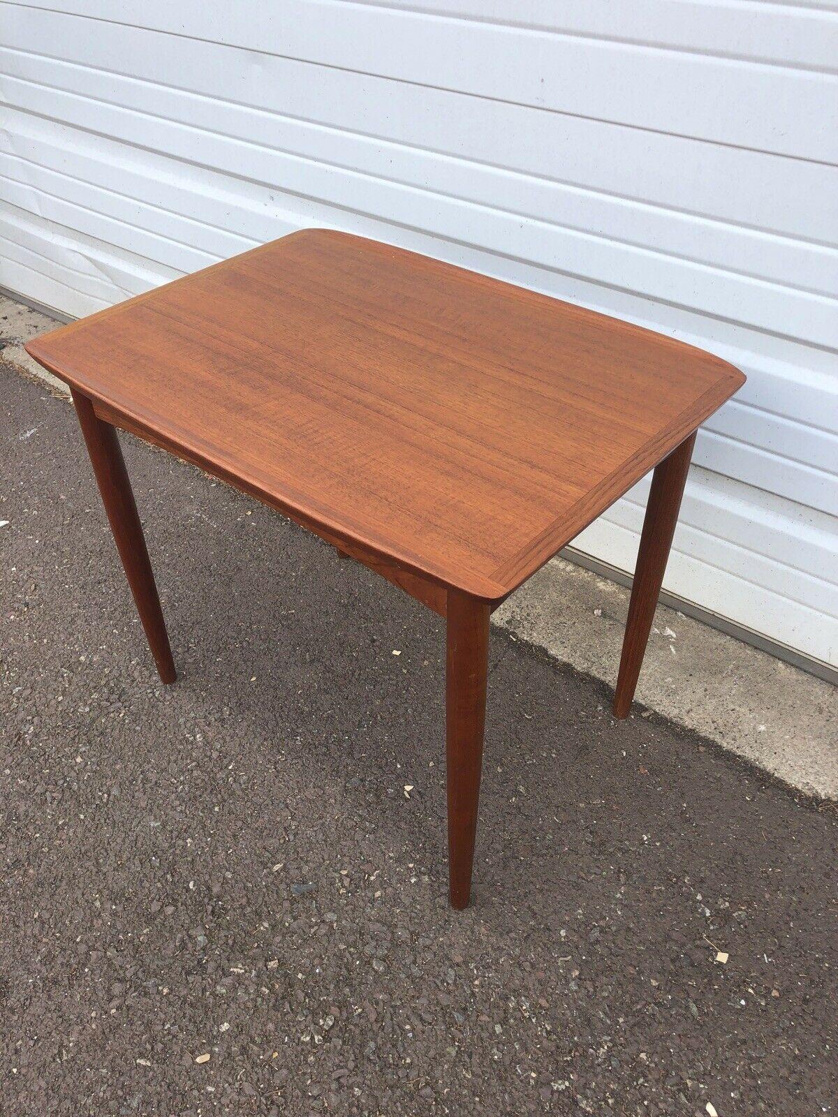 Vintage Mid Century Modern Danish Modern Teak Wood Side Table Mobelintarsia Ebay Teak Wood Side Table Side Table Wood Teak Wood [ 1600 x 1200 Pixel ]