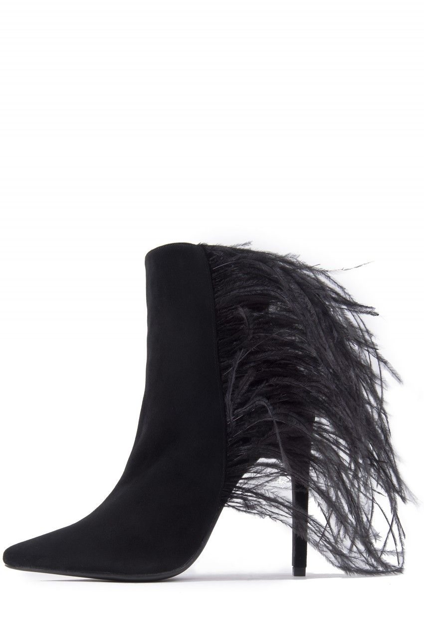 Jeffrey Campbell Shoes // Twisted Sister Lookbook // VAIN-FTHR in Black Suede Combo