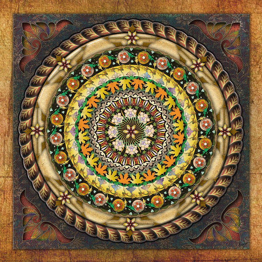 Mandala Mystic Garden Digital Art