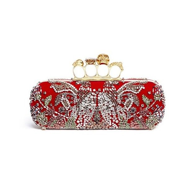 Knuckle shoulder bag - Red Alexander McQueen J7sKChDRrV