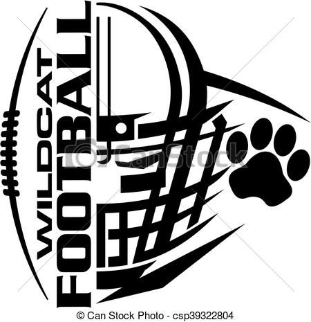vector wildcat football stock illustration royalty free rh pinterest com kentucky wildcat clipart free Wildcat Logo