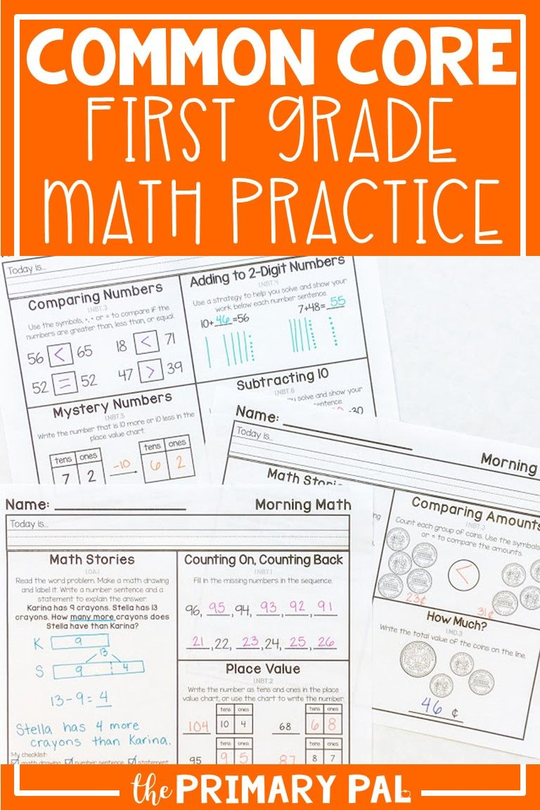 First Grade Common Core Math Practice Daily Math Practice Daily Math First Grade Math [ 1152 x 768 Pixel ]