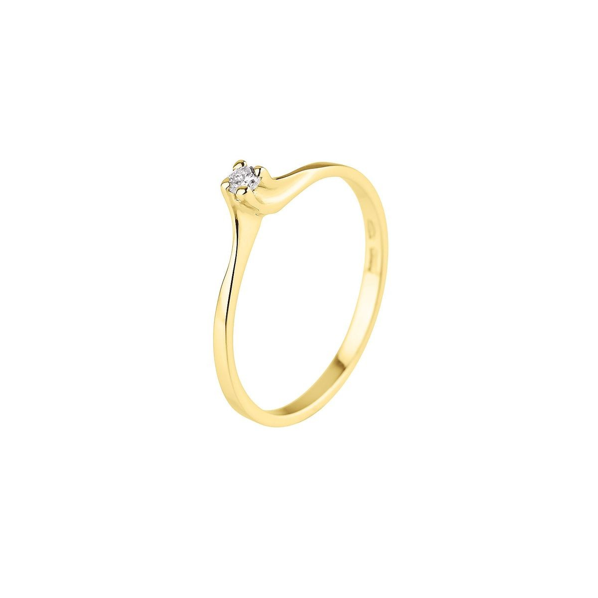bague or jaune taille 48