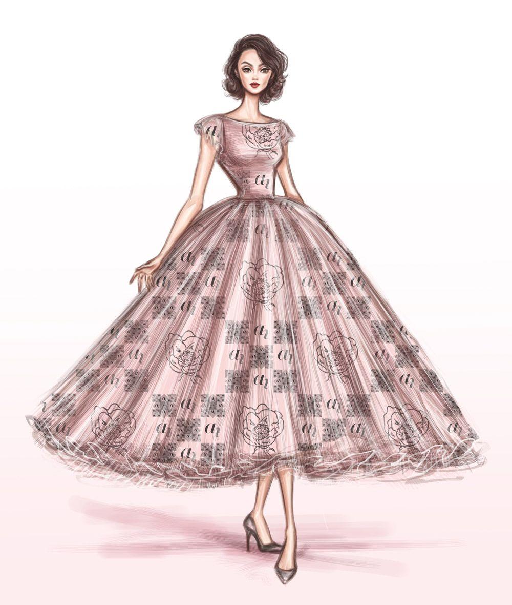 Pin von ani auf design illustration mode kleider - Kleider zeichnen ...